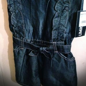 3 sizes Jean Romper/shorts w/belt